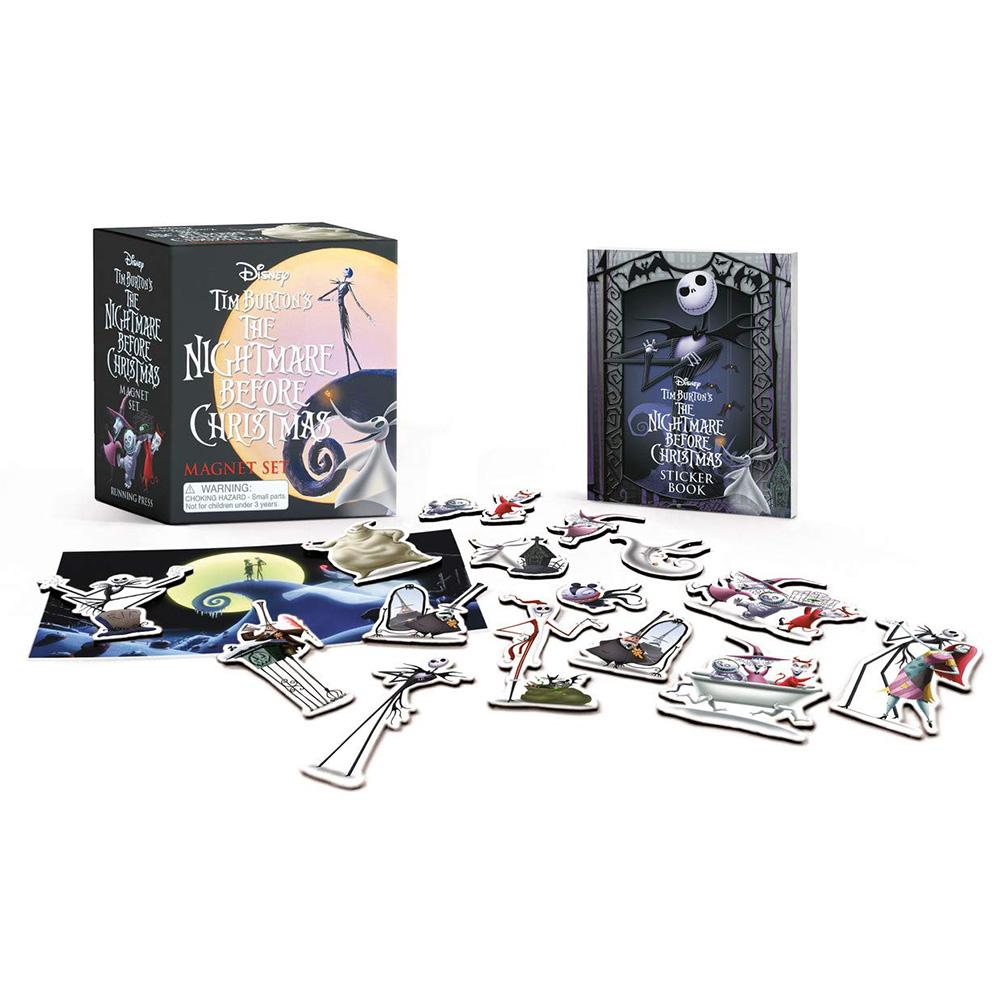 Nightmare Before Christmas Illustration.Tim Burton S The Nightmare Before Christmas Magnet Set
