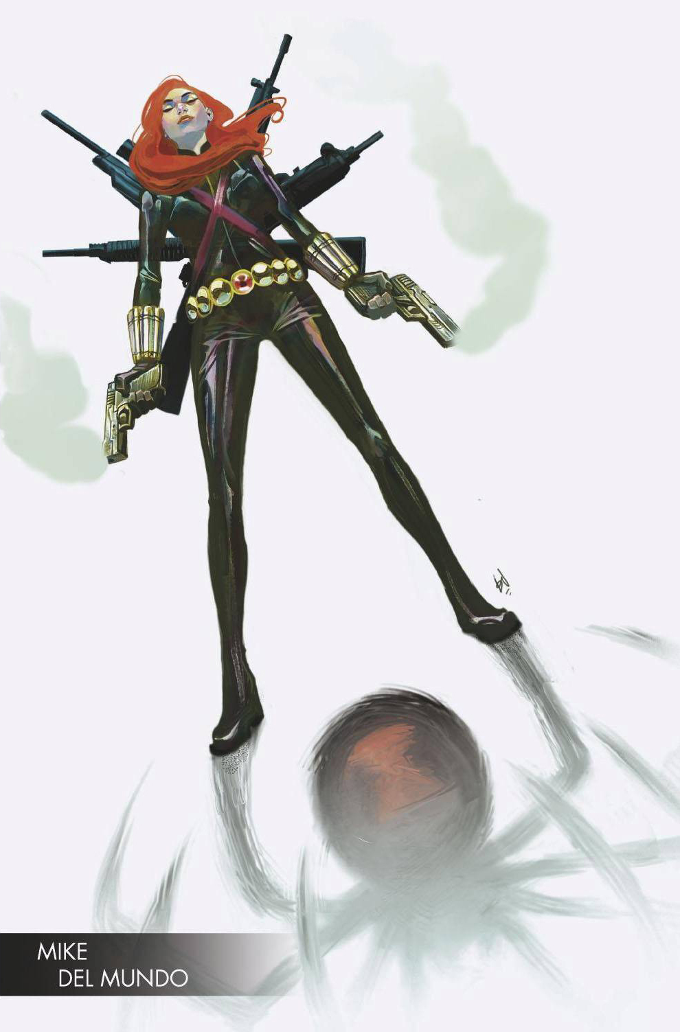 Infinity Countdown: Black Widow #1 (Mike Del Mundo Young Guns Variant)