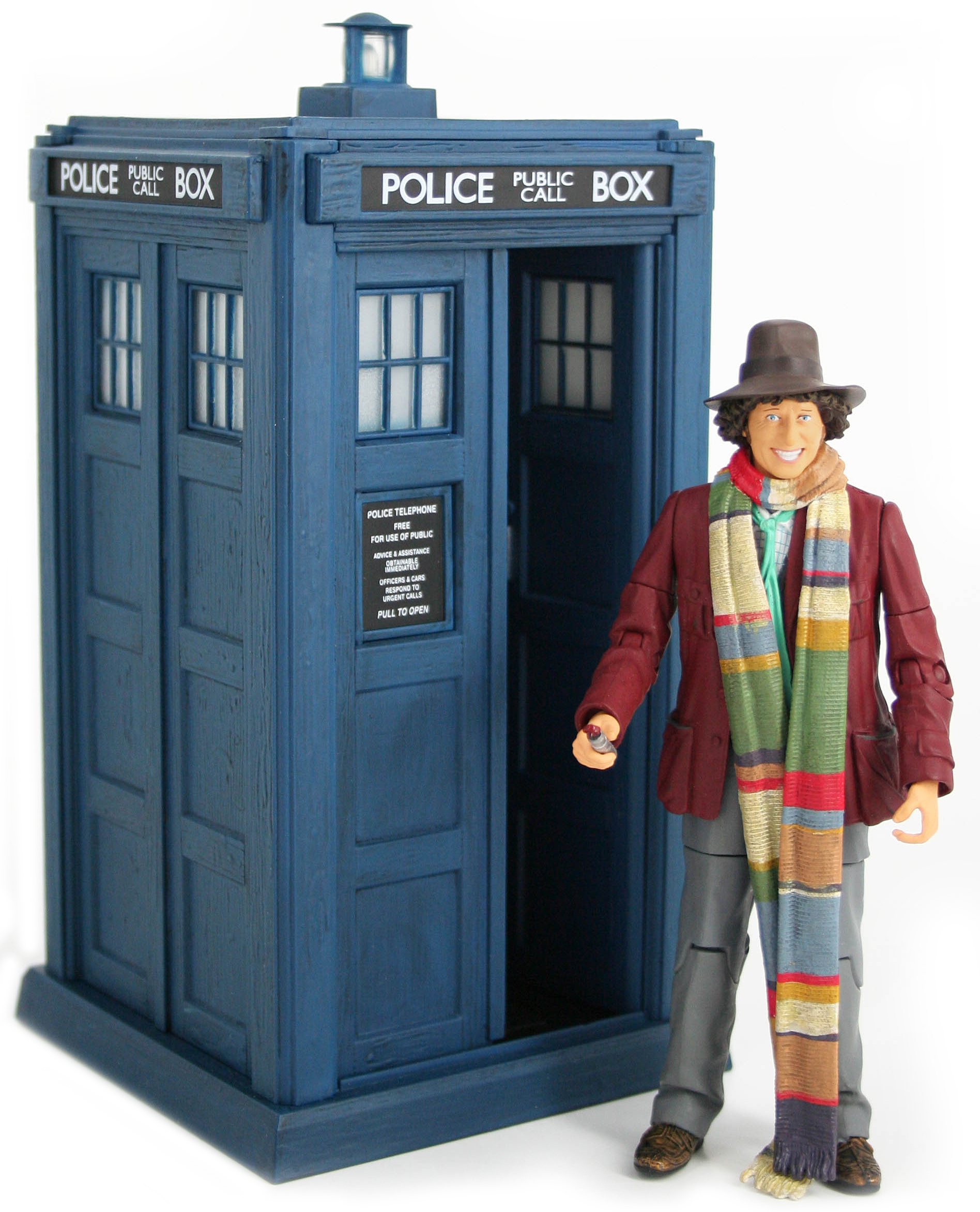 [Action Figures: 4th Doctor & Classic Electronic TARDIS: Planet Of Evil]