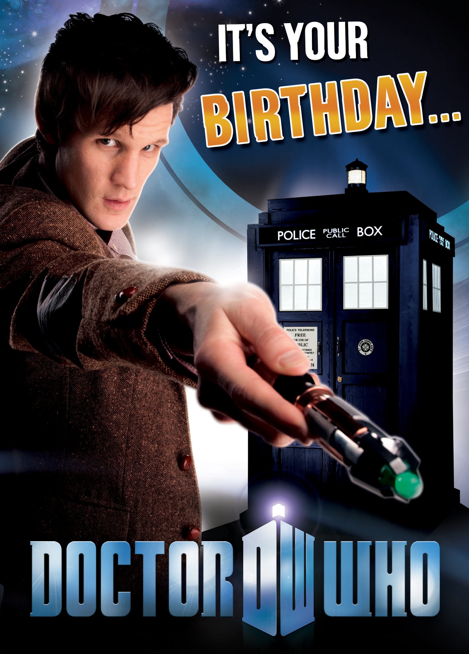 Doctor Who Birthday Card Its Your Birthday Sound FX Card – Dr Who Birthday Card