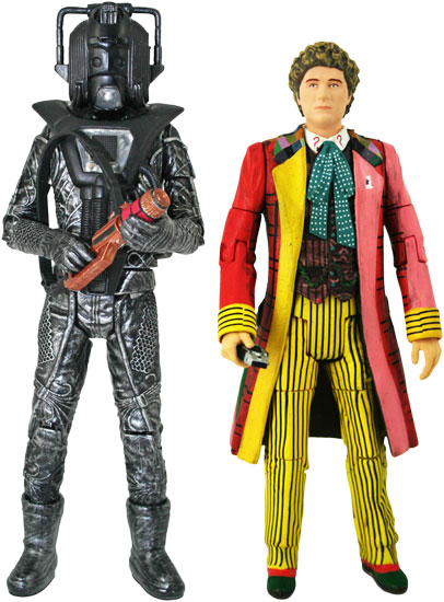 Stealth Cyberman and 6th Doctor