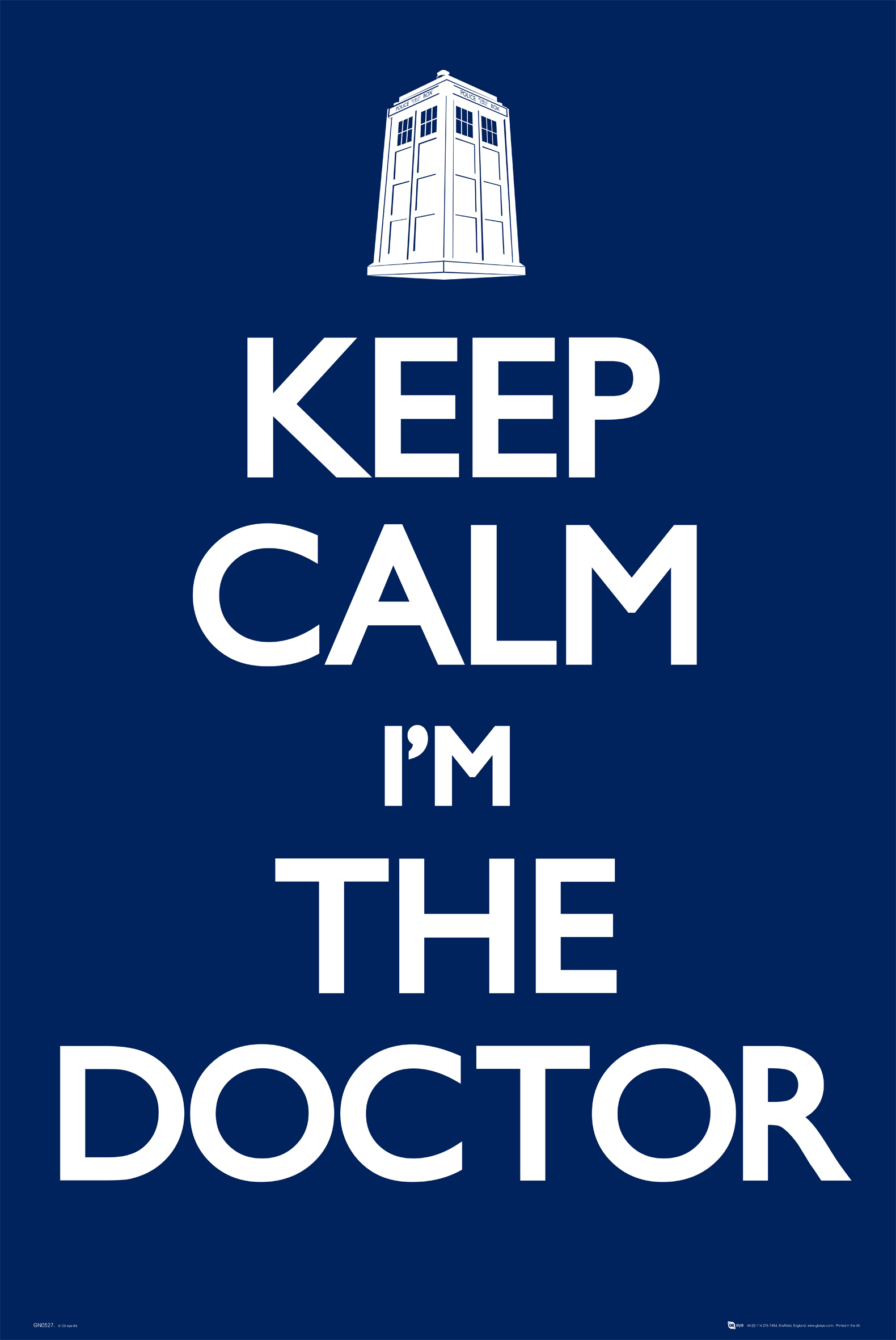[Poster: Keep Calm I'm The Doctor]