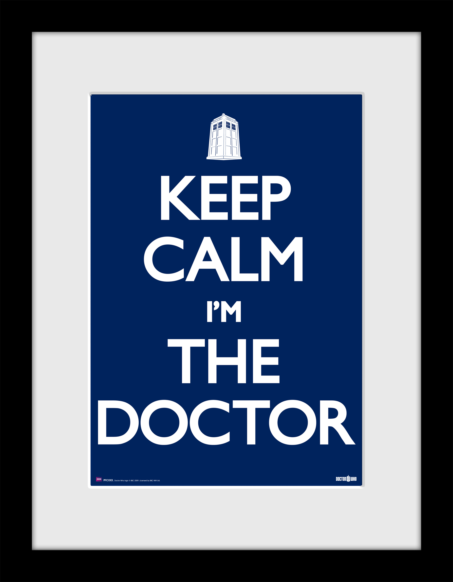 [Framed Print: Keep Calm I'm The Doctor]