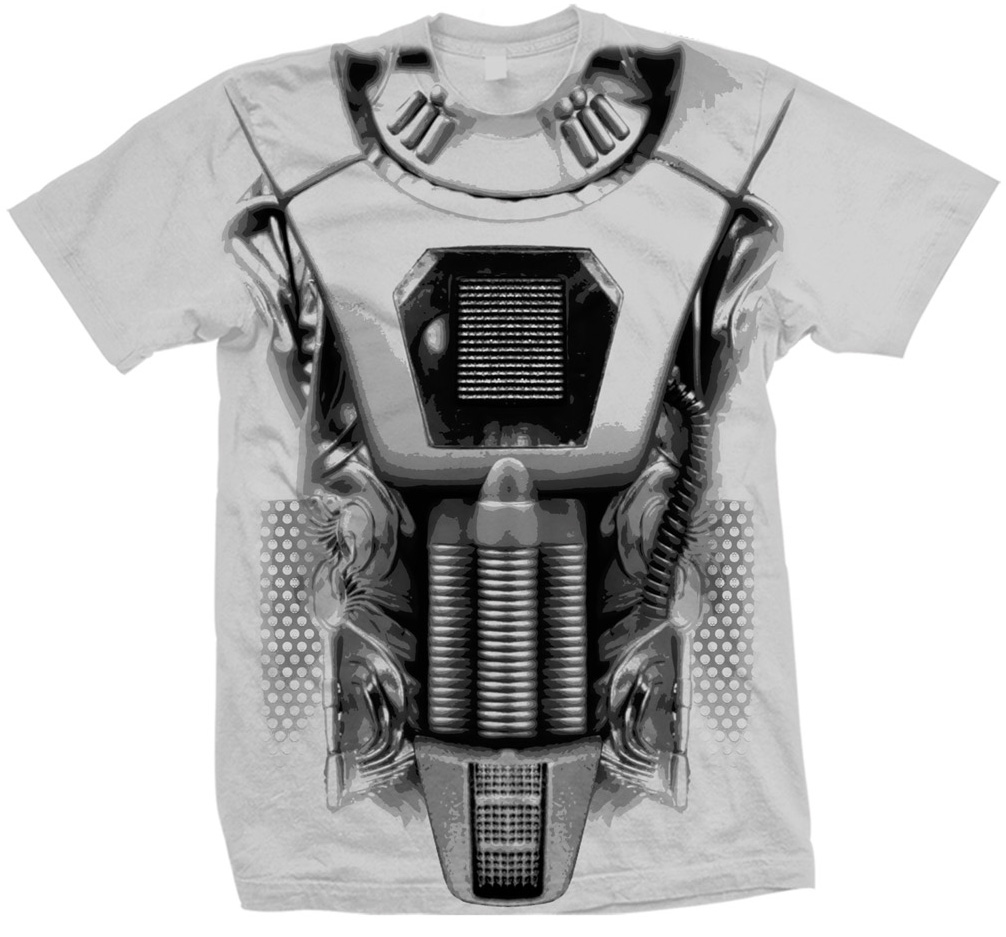 [T-Shirts: Earthshock Cyberman Costume (Forbidden Planet Exclusive)]