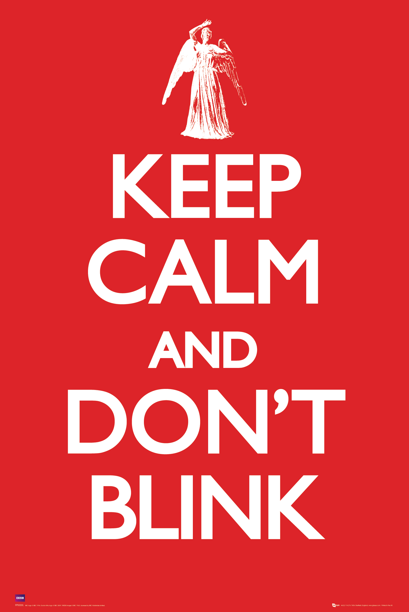 [Poster: Keep Calm And Don't Blink (Forbidden Planet Exclusive)]