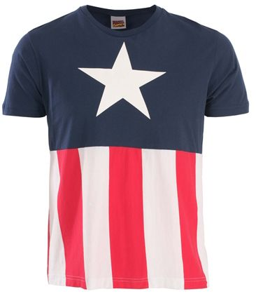 Marvel: T-Shirts: Captain America Uniform Costume ...
