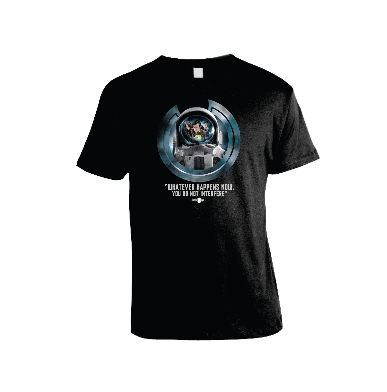 [Doctor Who: T Shirt: You Do Not Interfere Colour (Black) (Product Image)]