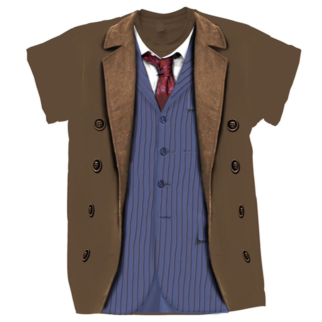 [T-Shirts: 10th Doctor Costume (Forbidden Planet Exclusive)]