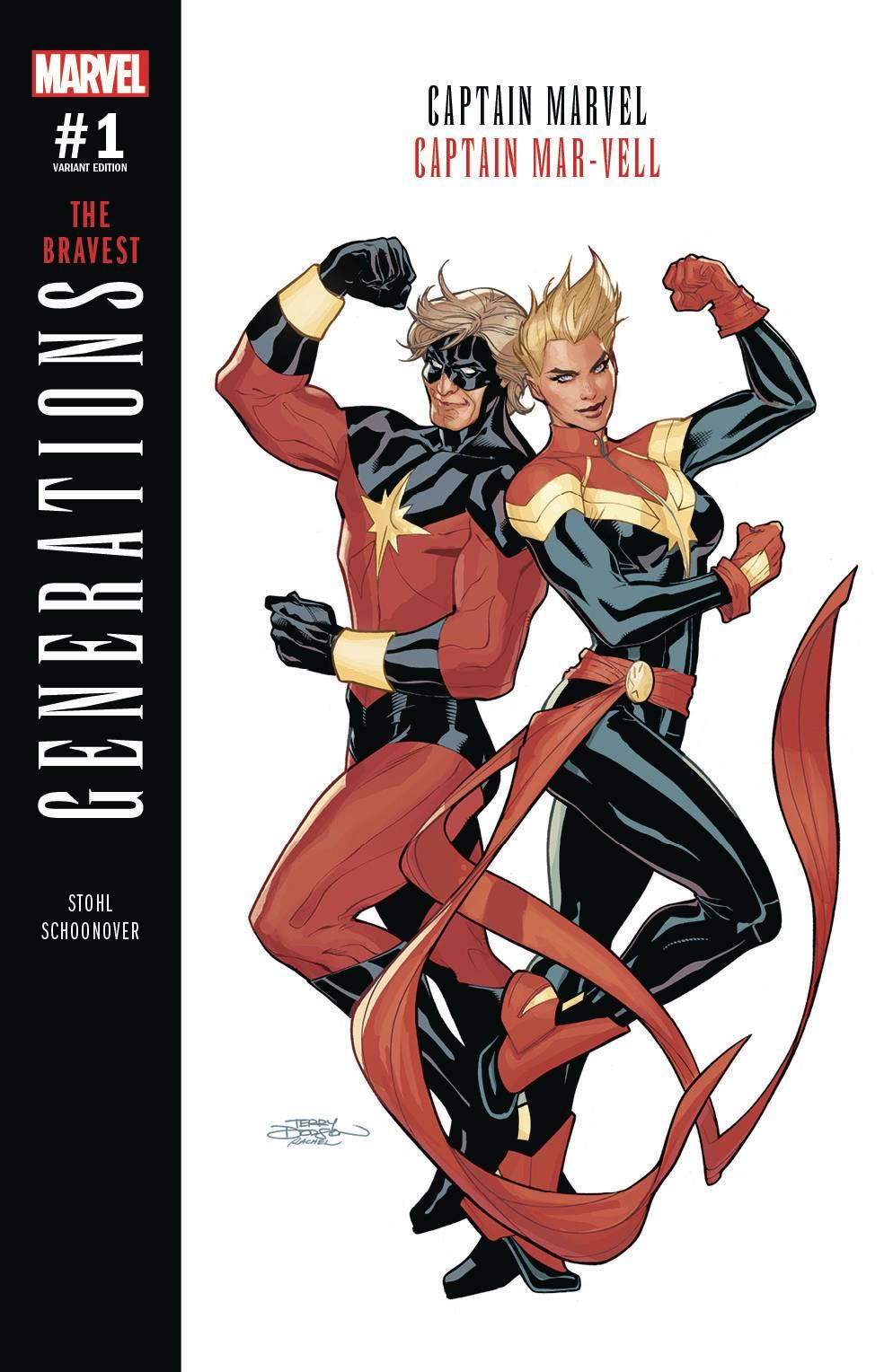 marvel: generations: captain marvel & captain mar-vell #1 (dodson