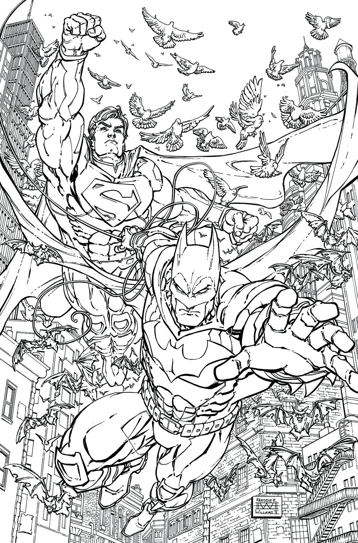 Batman Superman 28 Adult Coloring Book Variant Edition ForbiddenPlanet