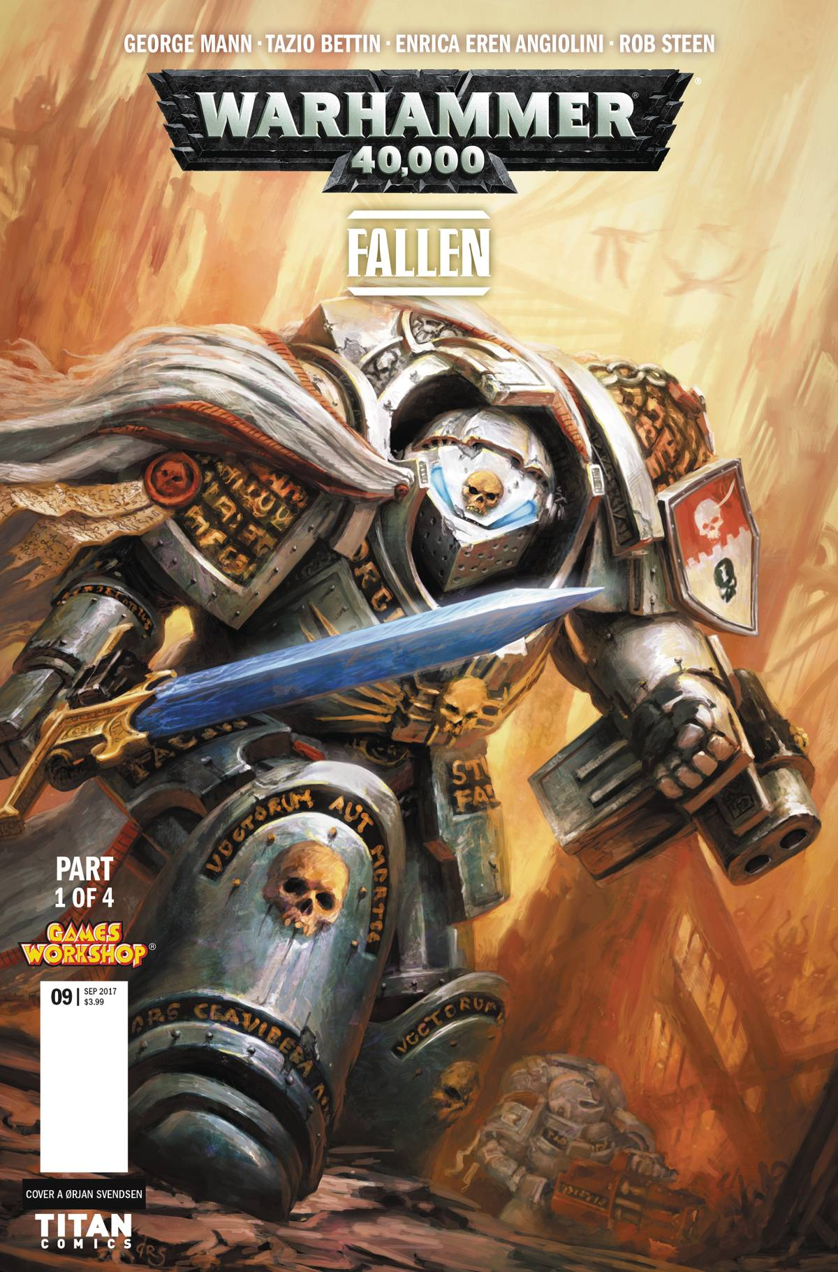 Warhammer 40k Fallen 1 Cover A Svendsen From Evoucer Mcdonald 40000 By George Mann Published Titan Comics Uk And