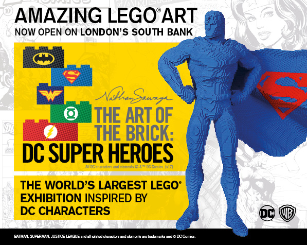 [Win a Family Ticket to The Art of the Brick DC Superheroes]