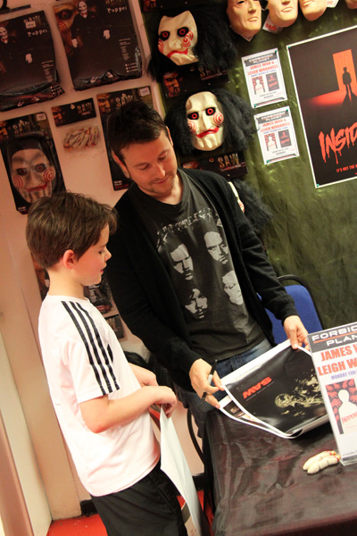 [Leigh Whannell with a fan at FP Birmingham ]