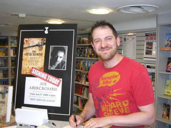 [Joe Abercrombie at Forbidden Planet ]