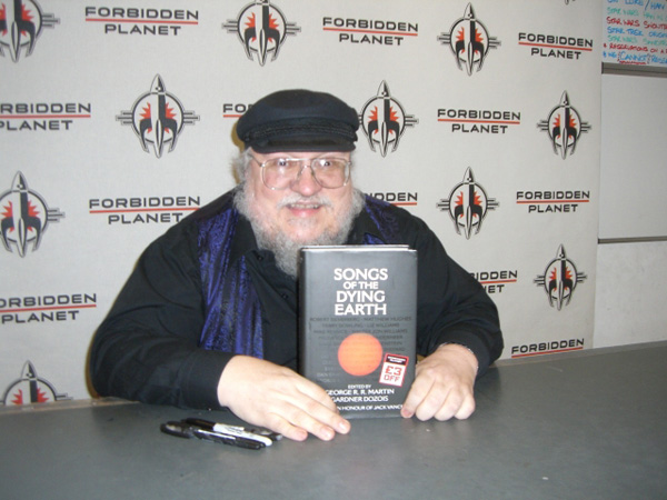 [George R R Martin at Forbidden Planet ]