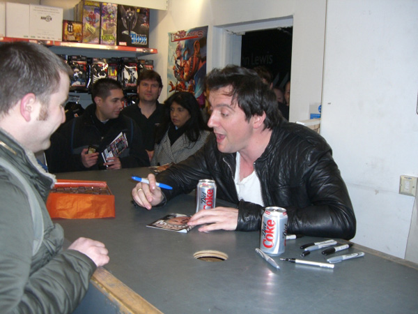 [Peter Serafinowicz meets fans at Forbidden Planet ]