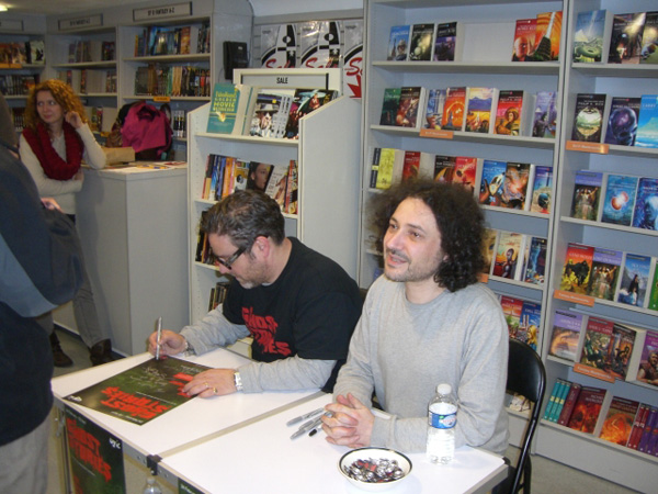 [Jeremy Dyson and Andy Nyman signing at FP ]
