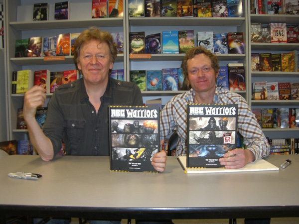 [Pat Mills and Clint Langley at FP ]