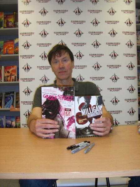 [Peter Milligan at Forbidden Planet ]