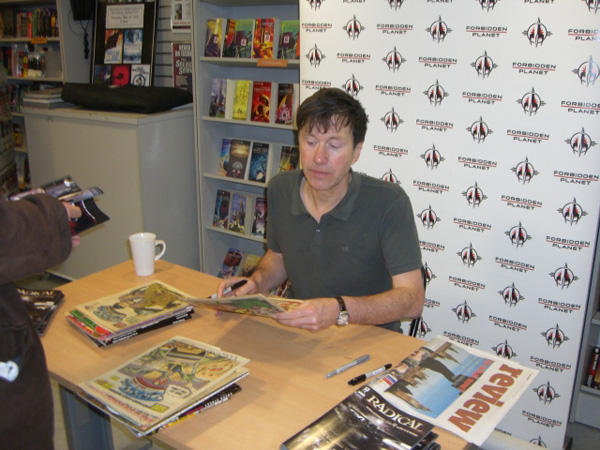 [Peter Milligan, hard at work at FP! ]