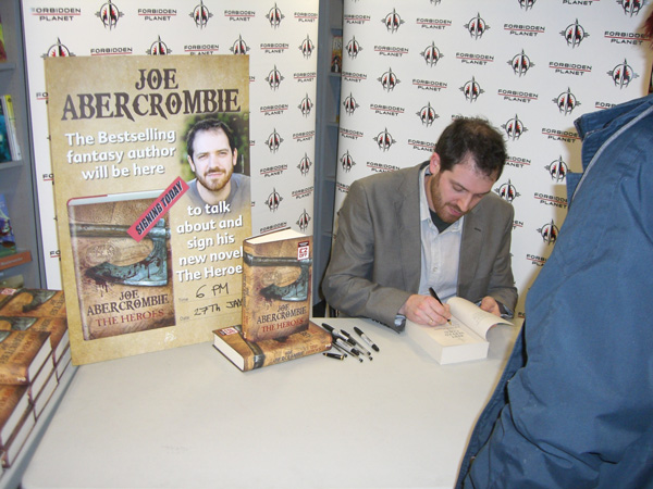 [Joe Abercrombie signing The Heroes at the Forbidden Planet Megastore ]