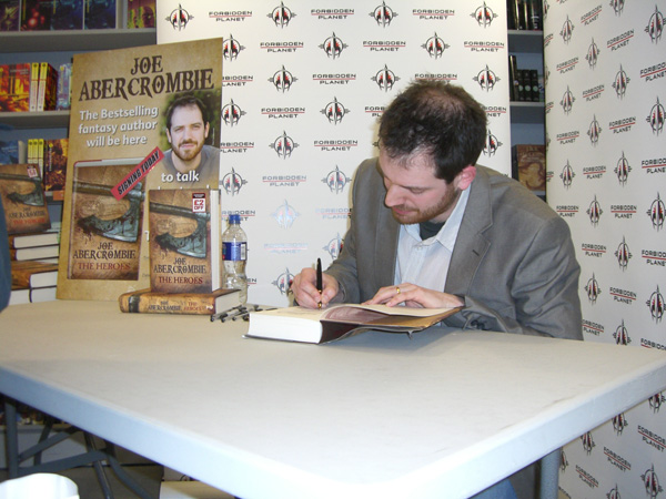 [Joe Abercrombie signing The Heroes at the Forbidden Planet Megastore]