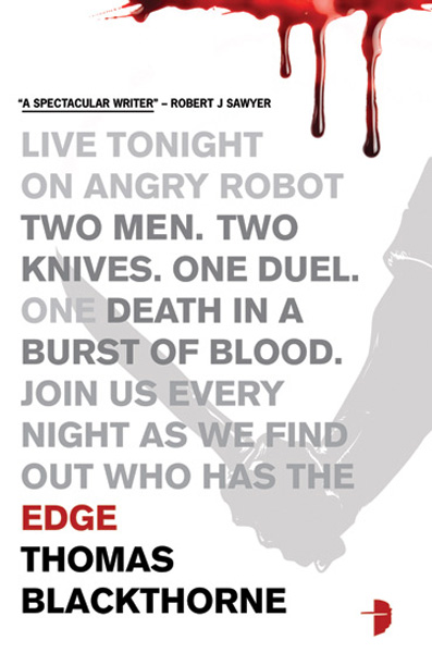 [Knife Edge by Thomas Blackthorne (aka John Meaney) ]