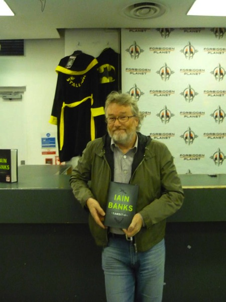 [Iain Banks at FP (Rocky dressing gowns not his!) ]