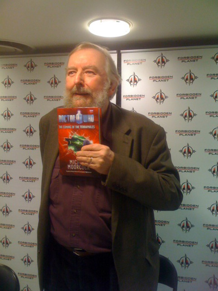 [Michael Moorcock at Forbidden Planet  ]
