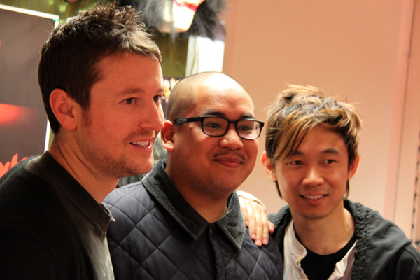 [James Wan & Leigh Whannell meet fans at Forbidden Planet Birmingham ]