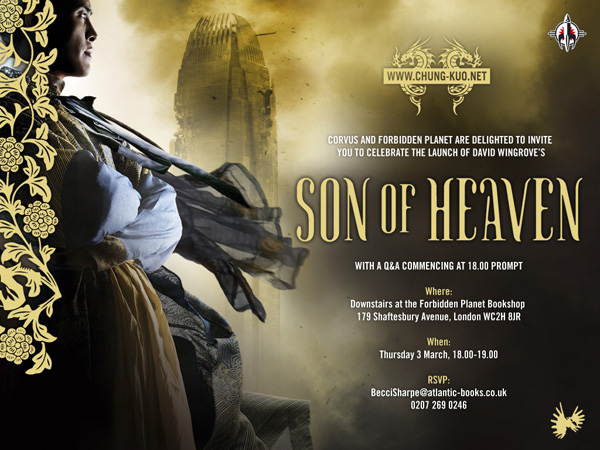 [You were invited to the Son of Heaven launch! ]